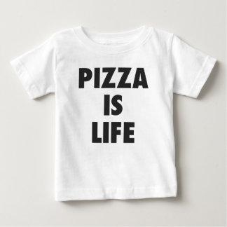 Camiseta Para Bebê A pizza engraçada é impressão do fast food da vida