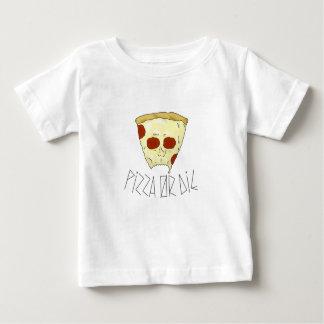 Camiseta Para Bebê A pizza ou morre