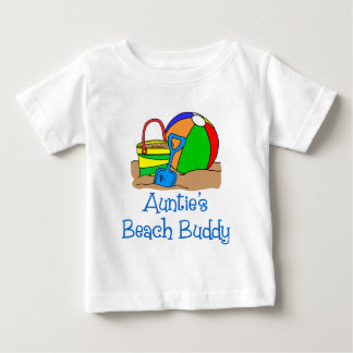 Camiseta Para Bebê A Praia Amigo do Auntie