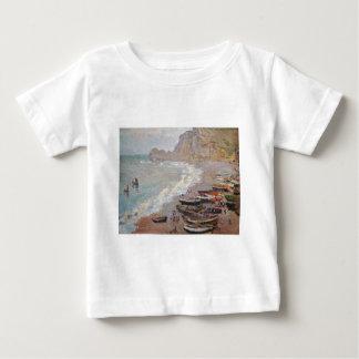 Camiseta Para Bebê A praia em Etretat - Claude Monet