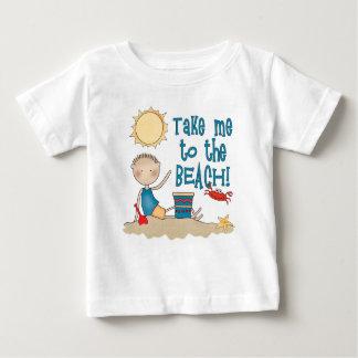 Camiseta Para Bebê À praia (menino)
