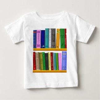 Camiseta Para Bebê a prateleira registra a leitura da biblioteca