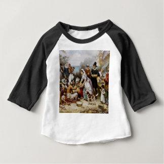 Camiseta Para Bebê A primeira acção de graças