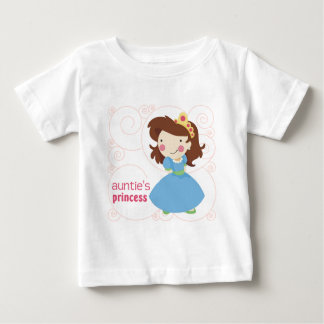Camiseta Para Bebê A princesa do Auntie