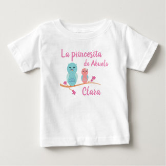 Camiseta Para Bebê A princesa Espanhol Bebê T-shirt do vovô