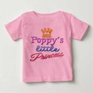 Camiseta Para Bebê A princesa pequena Bebê Criança T-shirt da papoila