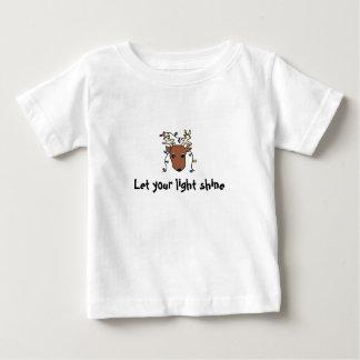 Camiseta Para Bebê a rena, deixou seu brilho claro