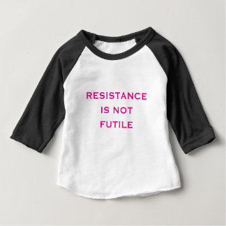Camiseta Para Bebê A resistência não é inútil