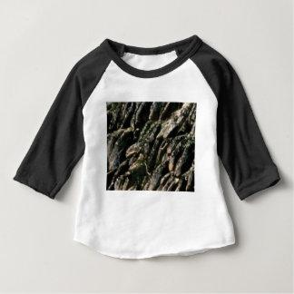 Camiseta Para Bebê a rocha dobra a textura