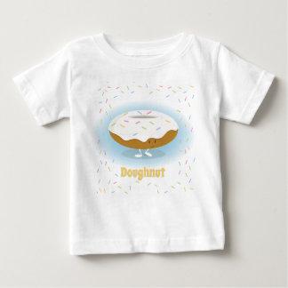 Camiseta Para Bebê A rosquinha de sorriso com polvilha o t-shirt do
