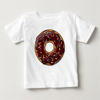 Camiseta Para Bebê A rosquinha do chocolate com polvilha