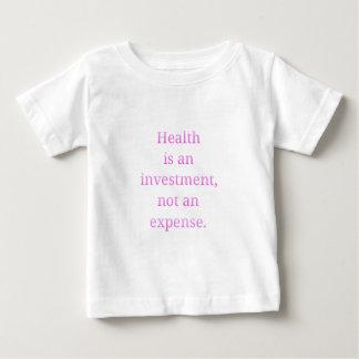 Camiseta Para Bebê A saúde é um investimento…