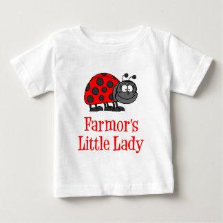 Camiseta Para Bebê A senhora pequena de Farmor