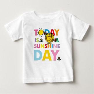 Camiseta Para Bebê A senhorita pequena Luz do sol   é hoje um dia da