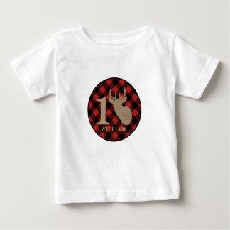 Camiseta Para Bebê A serapilheira da xadrez do búfalo inspirou a