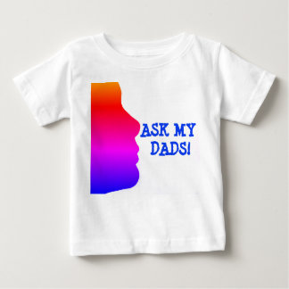 Camiseta Para Bebê A silhueta do arco-íris de uma cara pergunta a