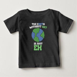 Camiseta Para Bebê A terra sem arte é apenas eh