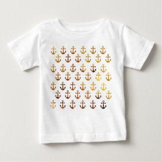 Camiseta Para Bebê A textura ambarina ancora o teste padrão