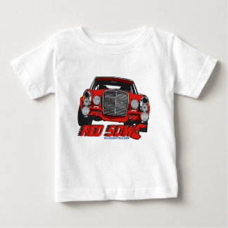 Camiseta Para Bebê A única porca vermelha
