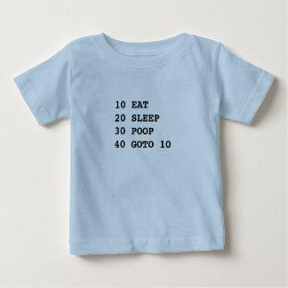 Camiseta Para Bebê A vida é t-shirt curto da luva do BASIC