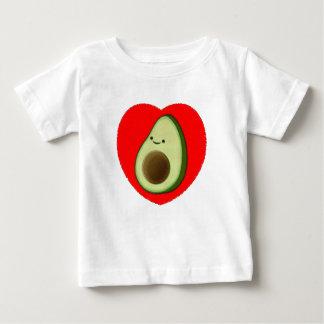 Camiseta Para Bebê Abacate bonito no coração vermelho