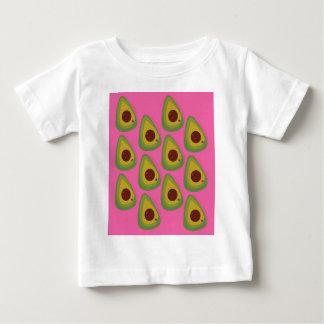 Camiseta Para Bebê Abacates do design no rosa