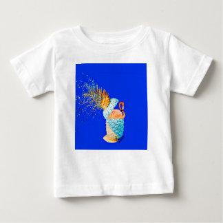 Camiseta Para Bebê Abacaxi do flamingo