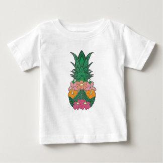 Camiseta Para Bebê Abacaxi florescido