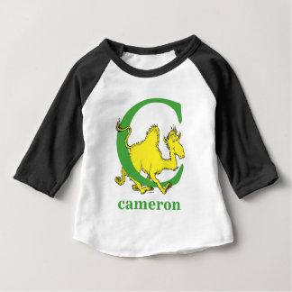 Camiseta Para Bebê ABC do Dr. Seuss: Letra C - O verde | adiciona seu