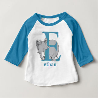Camiseta Para Bebê ABC do Dr. Seuss: Letra E - O azul   adiciona seu