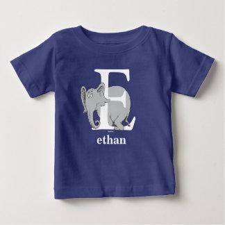 Camiseta Para Bebê ABC do Dr. Seuss: Letra E - O branco | adiciona