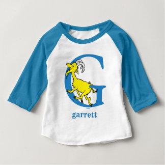 Camiseta Para Bebê ABC do Dr. Seuss: Letra G - O azul | adiciona seu