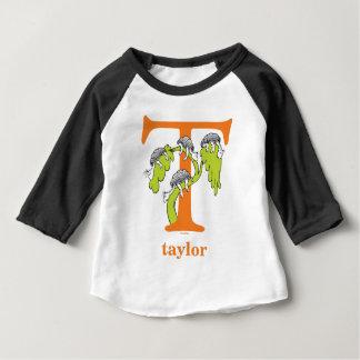 Camiseta Para Bebê ABC do Dr. Seuss: Letra T - A laranja | adiciona