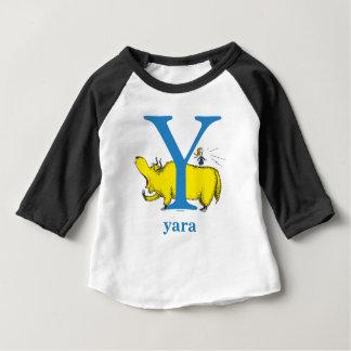 Camiseta Para Bebê ABC do Dr. Seuss: Letra Y - O azul | adiciona seu