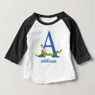 Camiseta Para Bebê ABC do Dr. Seuss: Rotule A - O azul   adiciona seu