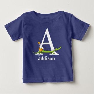Camiseta Para Bebê ABC do Dr. Seuss: Rotule A - O branco | adiciona