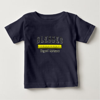 Camiseta Para Bebê Abençoado além de grato positivo cristão da medida