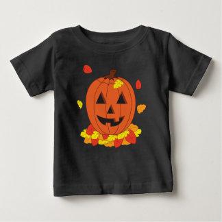 Camiseta Para Bebê Abóbora de sorriso