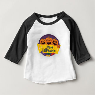 Camiseta Para Bebê Abóbora feliz do Dia das Bruxas