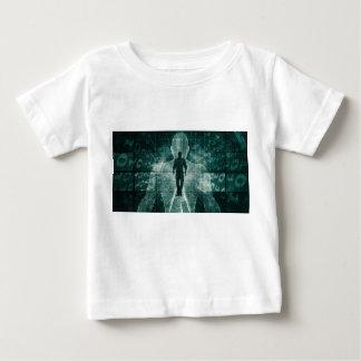 Camiseta Para Bebê Abraçando a nova tecnologia do futuro como a arte