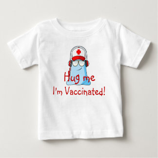 Camiseta Para Bebê Abrace-me, mim são vacinados!