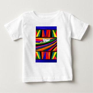 Camiseta Para Bebê Abstracção listrada Design2