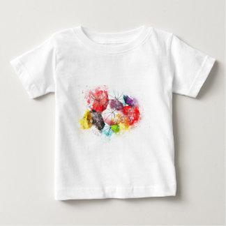 Camiseta Para Bebê Abstrato colorido dos guarda-chuvas