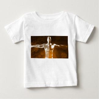 Camiseta Para Bebê Abstrato da ciência como uma arte do fundo do