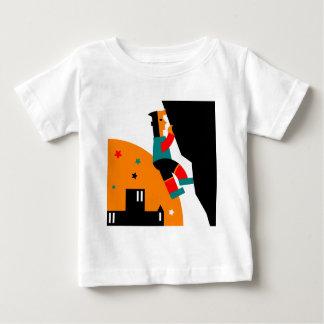 Camiseta Para Bebê Abstrato da escalada