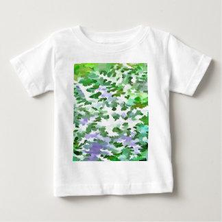 Camiseta Para Bebê Abstrato da folha em verde e no malva