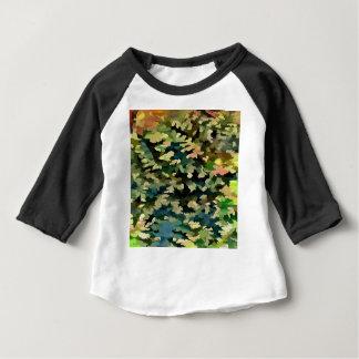 Camiseta Para Bebê Abstrato da folha no verde, no pêssego e no azul