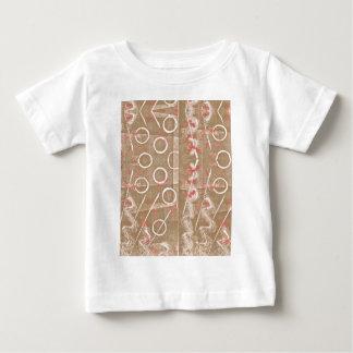 Camiseta Para Bebê Abstrato do branco da oxidação de Tan