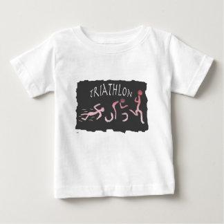Camiseta Para Bebê Abstrato do funcionamento da bicicleta da natação
