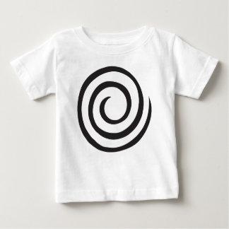 Camiseta Para Bebê Abstrato espiral